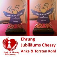 Jubiläums-Chessy Anke und Torsten Kohl