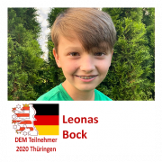 Leonas Bock DEM Teilnehmer 2020