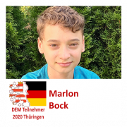Marlon Bock DEM Teilnehmer 2020