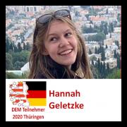 Hannah Geletzke DEM Teilnehmerin 2020